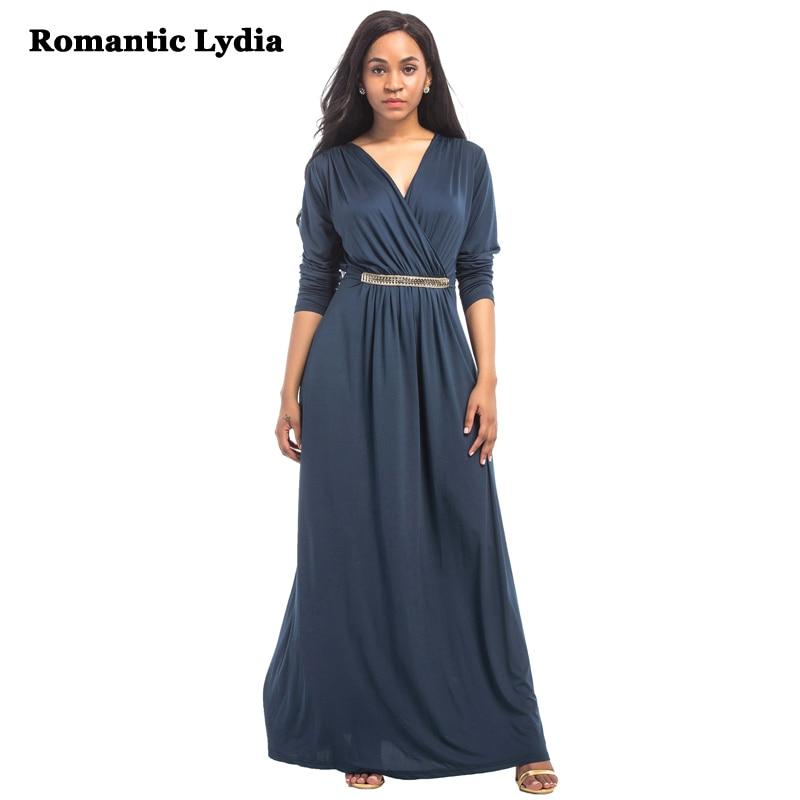 Women 2018 Summer Autumn Casual Maxi Vintage Dresses Elegant Floor Length  Long Sleeve Party Dress Plus Size