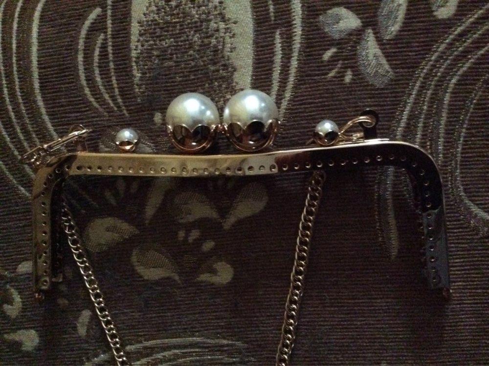 K618 mooie Lotus bloemhoofd Kus Sluiting 20CM Zilver, goud DIY Handgemaakte vierkante Metalen portemonnee frame handvat tas photo review