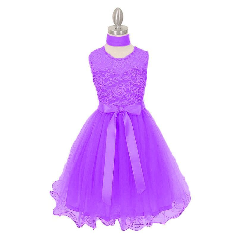 Girls Lace Dresses Summer 2017 children Flower Girl Dresses bowknot For Party And Wedding Princess Dress Age 5 6 8 10 12 years summer kids girls lace princess dress toddler baby girl dresses for party and wedding flower children clothing age 10 formal