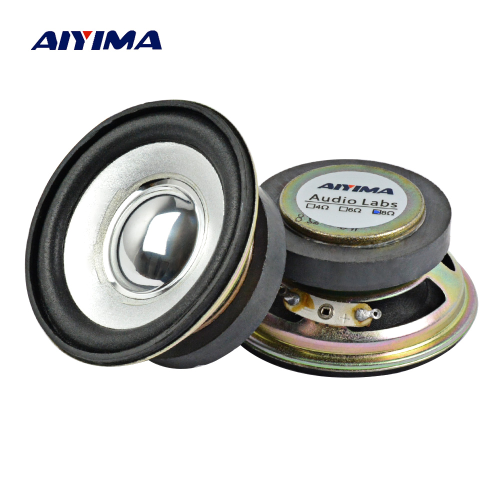 AIYIMA 2Pcs 2.5Inch Audio Portable Speakers 8Ohm 5W DIY Magnetic Square HiFi Full Range Speaker Horn Stereo Woofer Loudspeaker