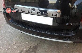 Защитная пластина для Renault Duster I 2010-2018 на пороге заднего бампера декоративная накладка для автомобиля аксессуары для литья