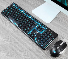 Wireless Keyboard + Mouse for PC Gamer 2.4GHz Gaming and Computer Rechargeable