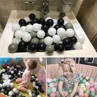 100 unids/set Bolas de plástico respetuosas con el medio ambiente de juguete bolas de Bola de océano blandas Bola de agua diámetro 5,5 cm