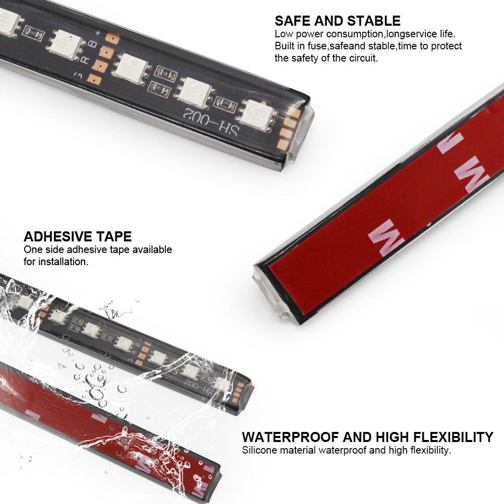 Современный автомобильный 9 светодиодный 2/4 в 1 интерьерный 5050 атмосферный свет тире пол ноги полосы света адаптер прикуривателя декоративная лампа