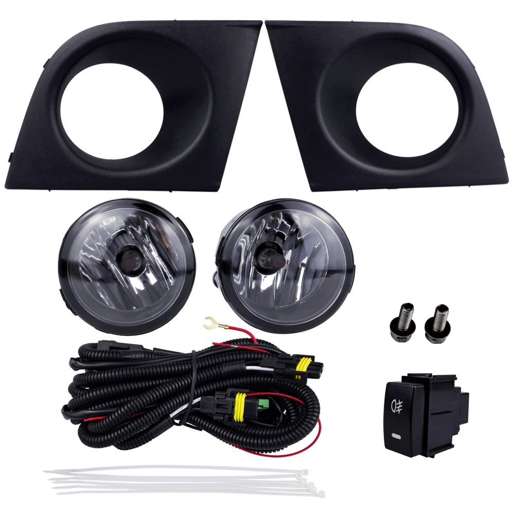 hight resolution of car accessories for nissan tiida latio 2005 2006 2007 2008 with wires harness switch fog light kits 12v 55w high power headlight in car light assembly from