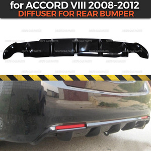 Image 1 - Diffuser case for Honda Accord VIII 2008 2012 of rear bumper ABS plastic body kit aerodynamic pad decoration car styling tuning