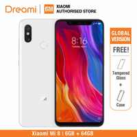 Global Version Xiaomi Mi 8 64GB ROM 6GB RAM (Official Rom) OFFICIAL Rom, mi8 64gb