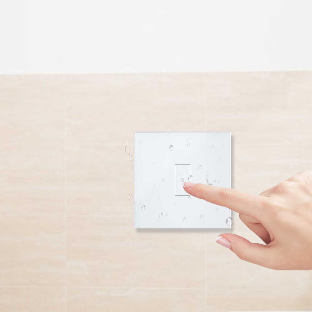 Умный дом WiFi выключатель света 2500 Вт сенсорный выключатель, Tuya Smart Life приложение дистанционное управление, Голосовое управление Google Home, Alexa Echo