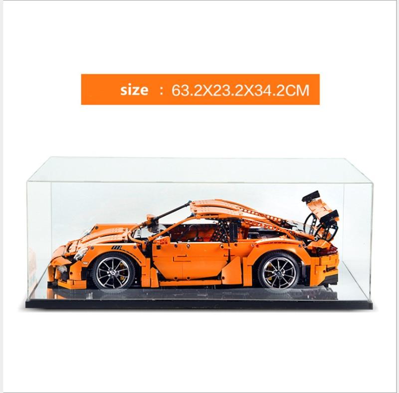 La vitrine boîte pour lego technic prosche 42056 lego Bugatti Chiron 42083 série building block modèle 3368 20001 20086