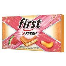 First X-Fresh Watermelon & Peach Flavored Gum 27 gr  FREE SHİPPİNG