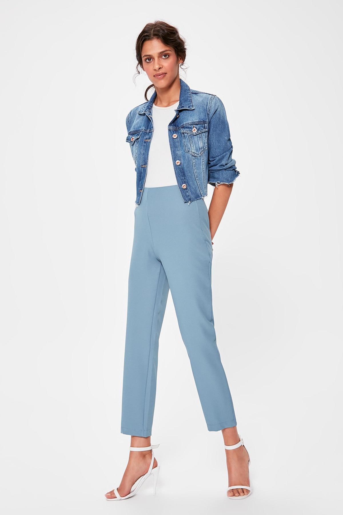 Trendyol Blue Basic Pants TWOAW20PL0056