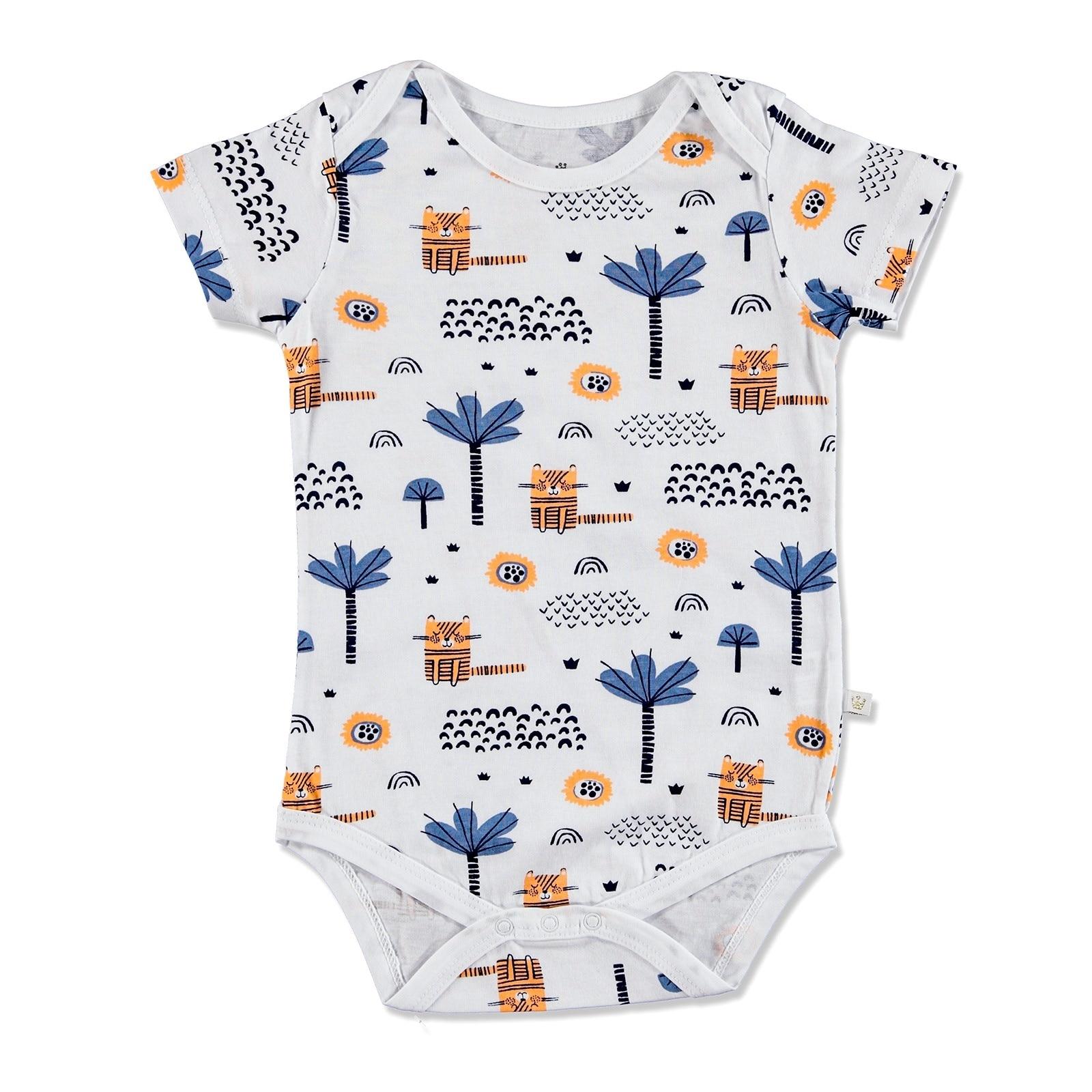 2 Cute Little Blue Short Sleeve Bodysuits Size 12-18 Months