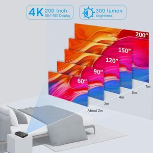 Image 5 - Vivicine P10 4K Mini projektor, Android 9.0 Bluetooth, bateria 4100mAh, HDMI USB gra komputerowa mobilny kieszonkowy Proyector Beamer