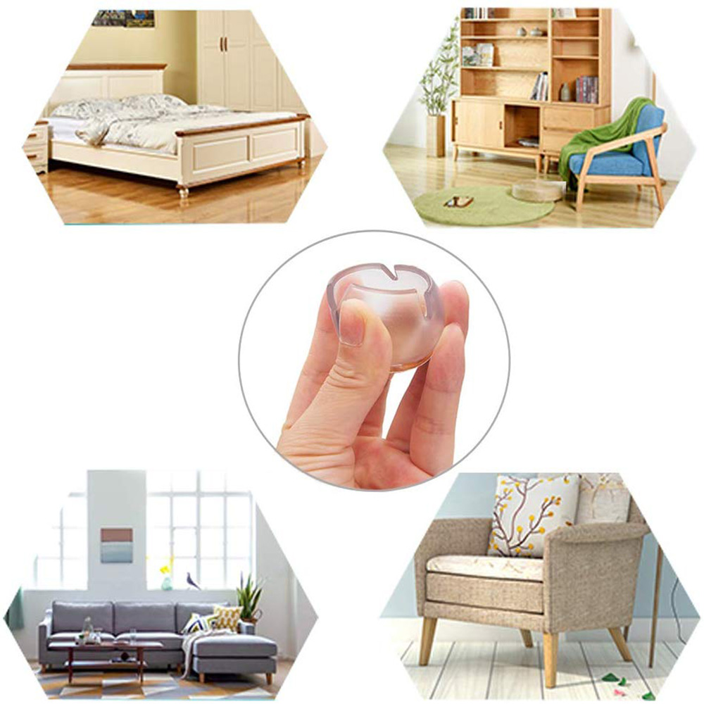 Silicone Chair Leg Caps Feet Pads Furniture Table Covers Socks Floor Protectors Round Bottom Non-Slip Cups