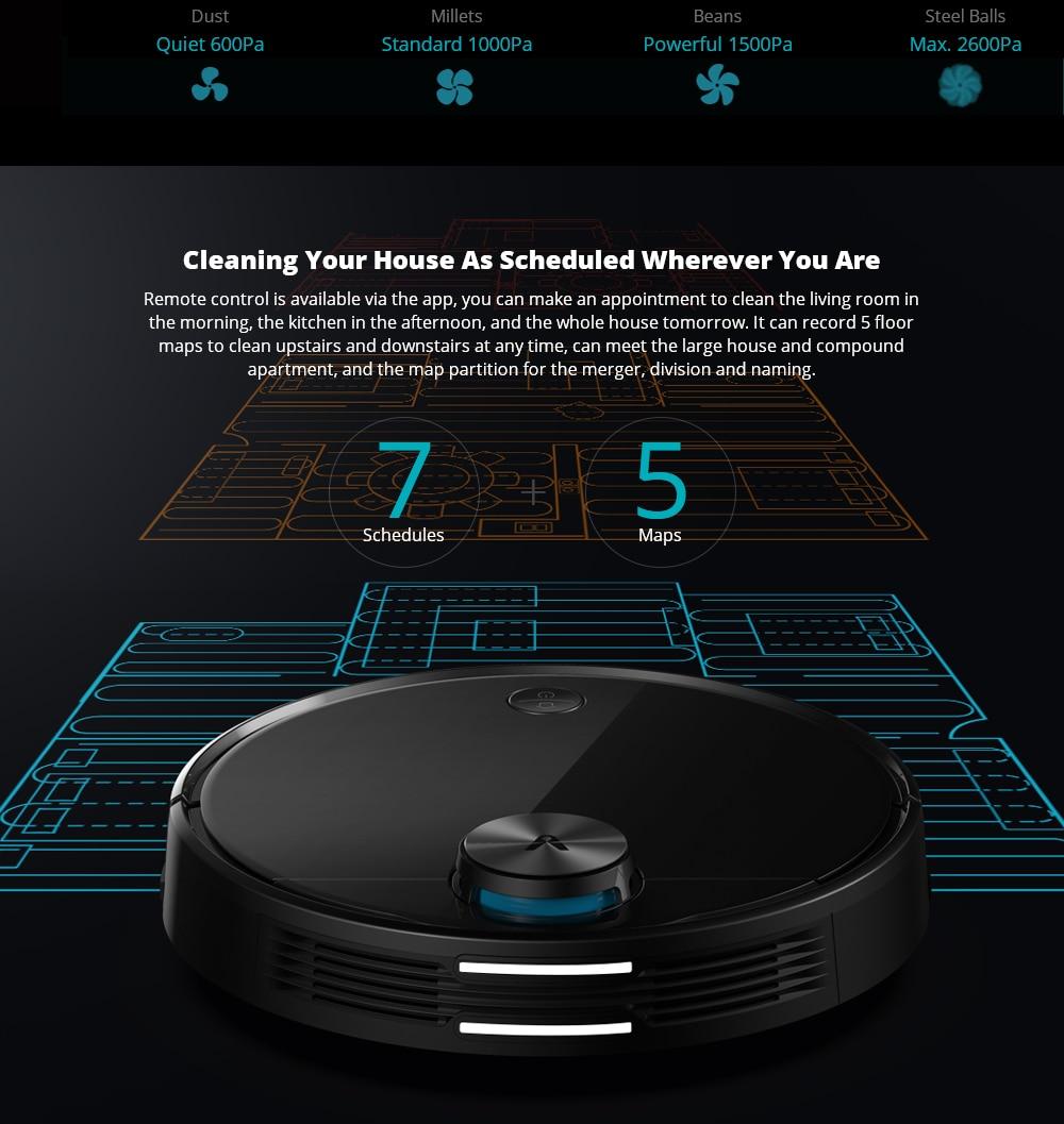 VIOMI V3 Robot Vacuum Mopping, 2600Pa, Quiet, Self-Charging Robotic Vacuum Cleaner, Cleans Hard Floors to Medium-Pile Carpets9