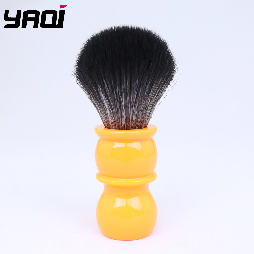 Yaqi 26mm Soft  Black Synthetic Hair  Knot Orange Handle Shaving Brushes