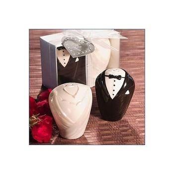 Lote de 20 Saleros + Pimentero Novios - Detalles de recuerdos y regalos para bodas... comuniones baratos y originales invitados