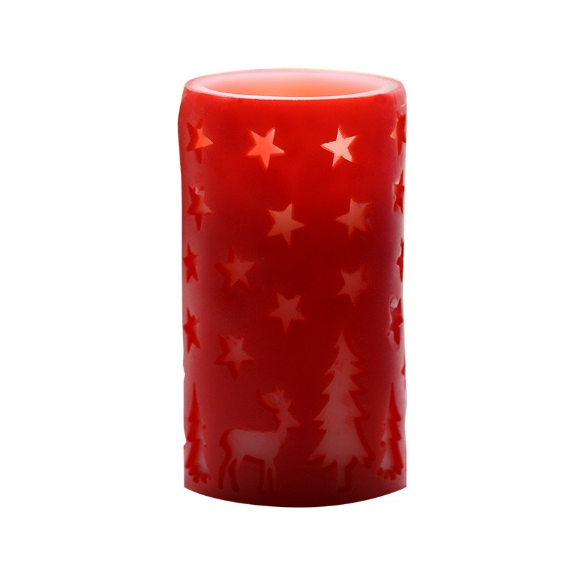 Candle LED Color Red 83G