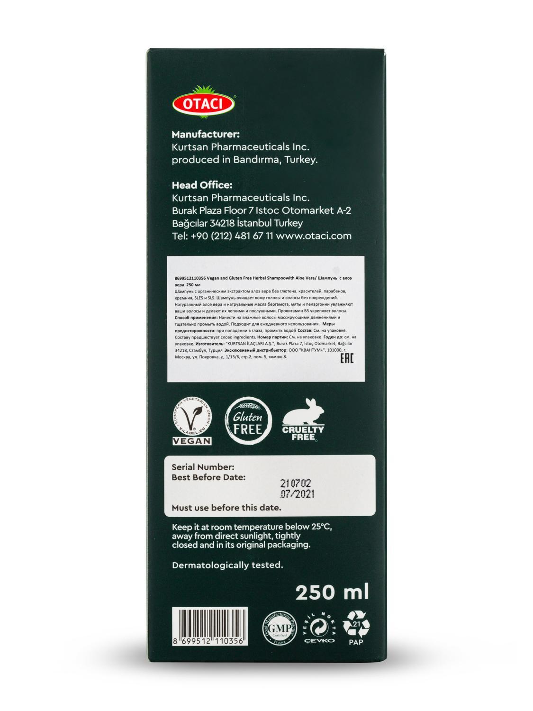 Otaci/herbal shampoo for hair with aloe vera, and mint oil. Herbal shampoo, with B5. SLS free