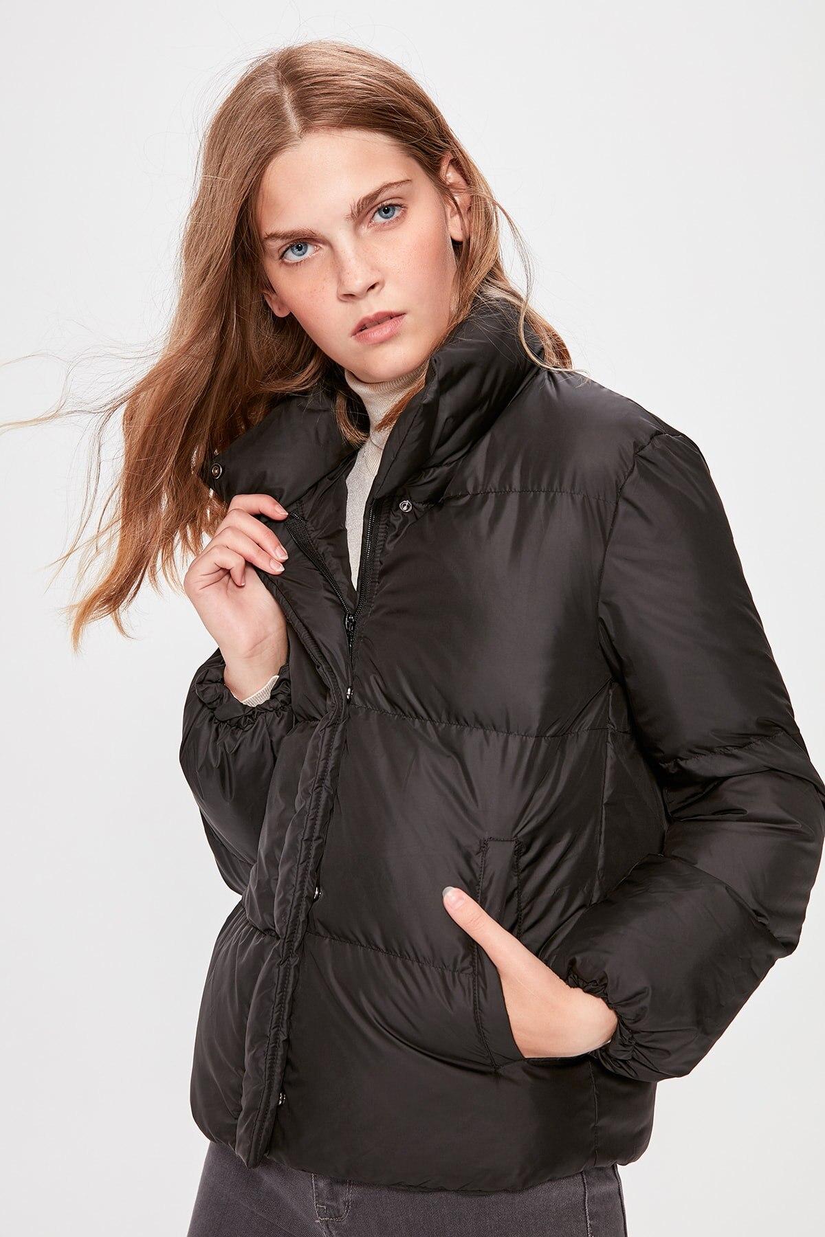 Trendyol Black Zipper It Should Cover INFLATABLE Coat TWOAW20MO0067