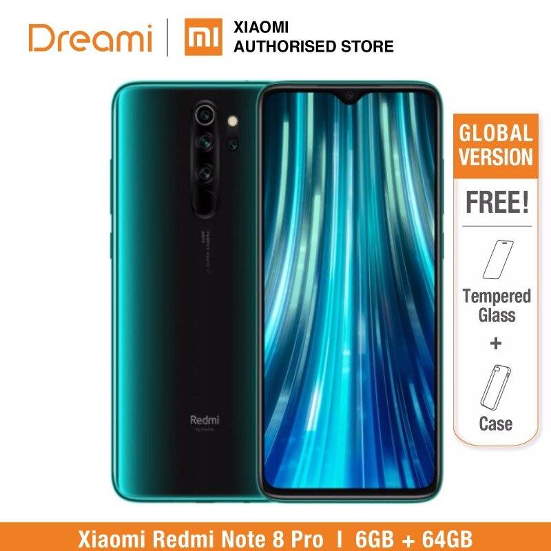 Глобальная версия Xiaomi Redmi Note 8 PRO 64 Гб rom 6 Гб ram (официальная rom), note8 pro Мобильный смартфон, телефон, смартфон