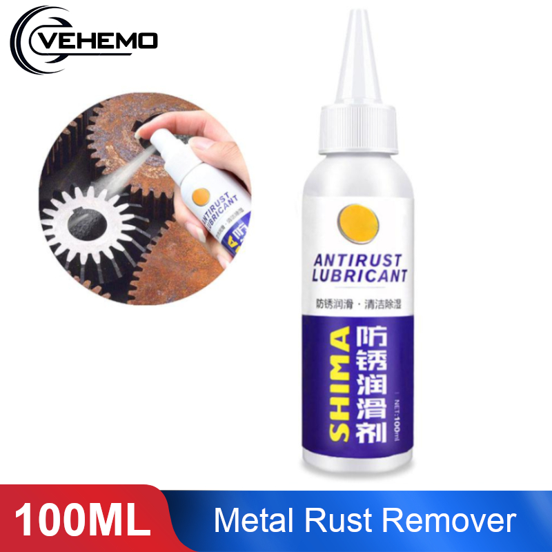 Vehemo 100ml Rust Remover Window Rust Inhibitor Wheel Hub Screw Derusting Spray for Derusting Metal Parts Car Maintenance