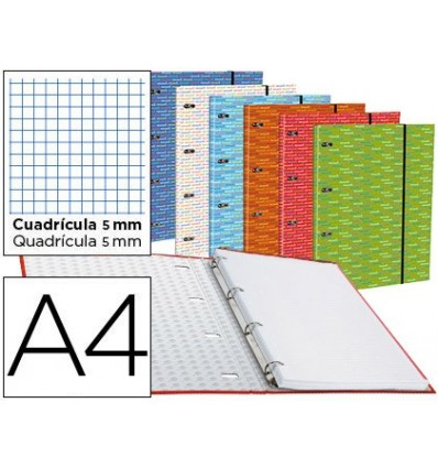 WALLET WITH REPLACEMENT LEADERPAPER A4 TABLE 5MM LINED 4 RINGS 20MM 6 Pcs
