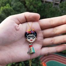 FAIRYWOO Flower Lady Mexico Necklace Cute Jewelry Women Lovers Graduation Gifts Necklaces & Pendants Handmade Miyuki Bead Choker
