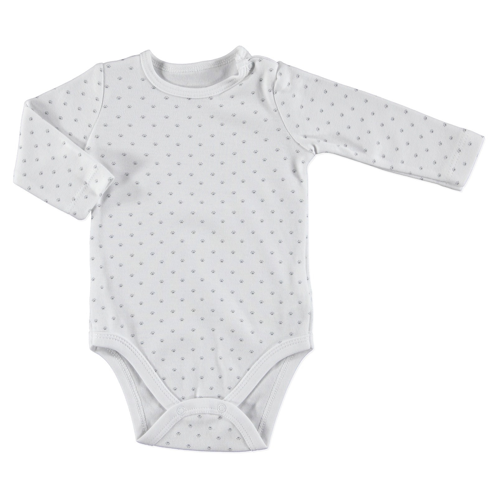 Ebebek HelloBaby Little Cute Paws Baby Long Sleeve Bodysuit