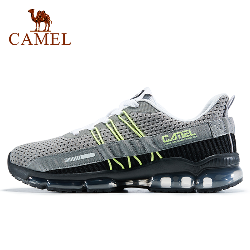 CAMEL Men Women Outdoor Running Shoes Breathable Sports Air Curshion Sneakers Lightweight