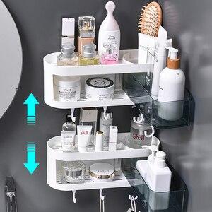 Image 4 - Настенная угловая полка для ванной комнаты, шампунь, искусственная кухонная полка, органайзер, бытовые предметы, аксессуары для ванной комнаты