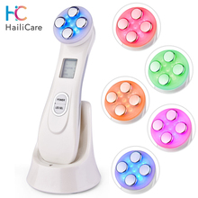 Face Massager LED Photon RF Facial Lifting Machine EMS Mesotherapy Electroporation Radio Frequency Skin Care Rejuvenation Device
