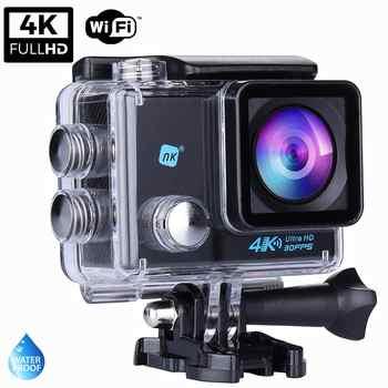 NK Grave Cámara Deportiva subacuática 4K (Ultra-Alta Definición) HD 16MP, WiFi - HDMI, Carcasa Impermeable 30M
