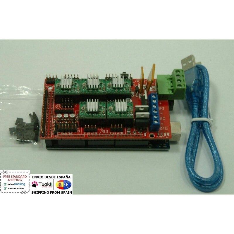 Marlin Controller 3d Printer Arduino Mega 2560 RAMPS 1.4 A4988
