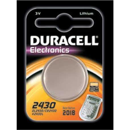 BUTTON BATTERY DURACELL 2430
