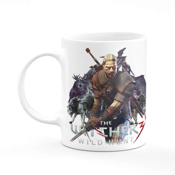 The Witcher Wild Hunt Coffee Tea Mug Gift Printing Sublimation H