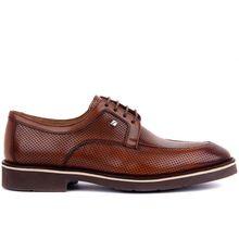 Fosco-tan couro masculino sapatos casuais novos 2019 homens sapatos casuais de couro verão respirável buracos de luxo marca plana para homem