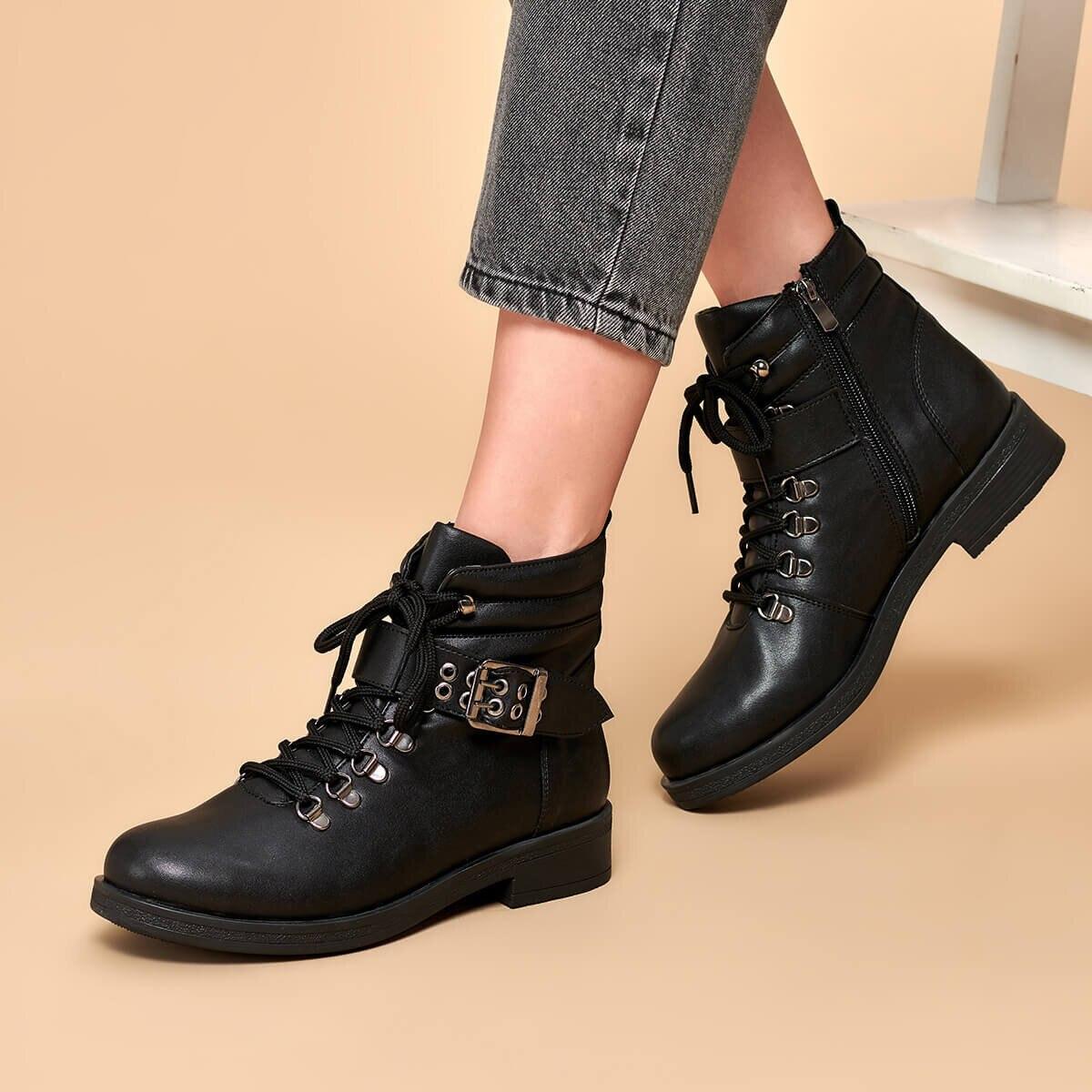 FLO 19K-178 Black Women Boots BUTIGO