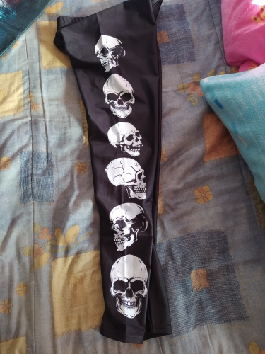 Skull Print Black Leggings E-girl photo review