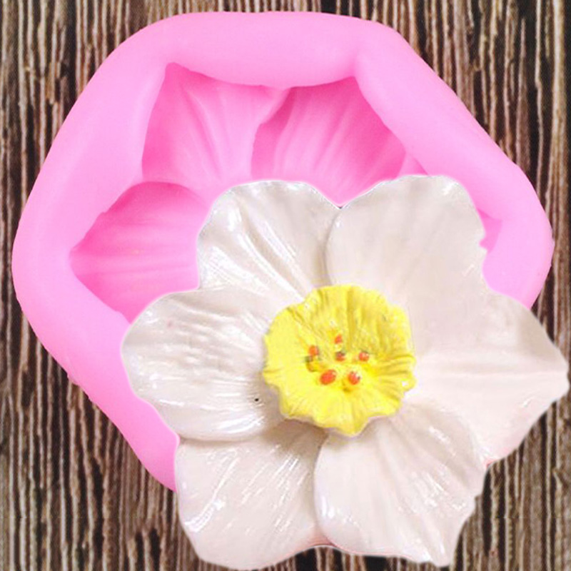 Силиконовые формы в виде цветка Плюмерия Цветочная Форма для шоколада DIY Инструменты для украшения торта для вечеринки Полимерная глина дл...