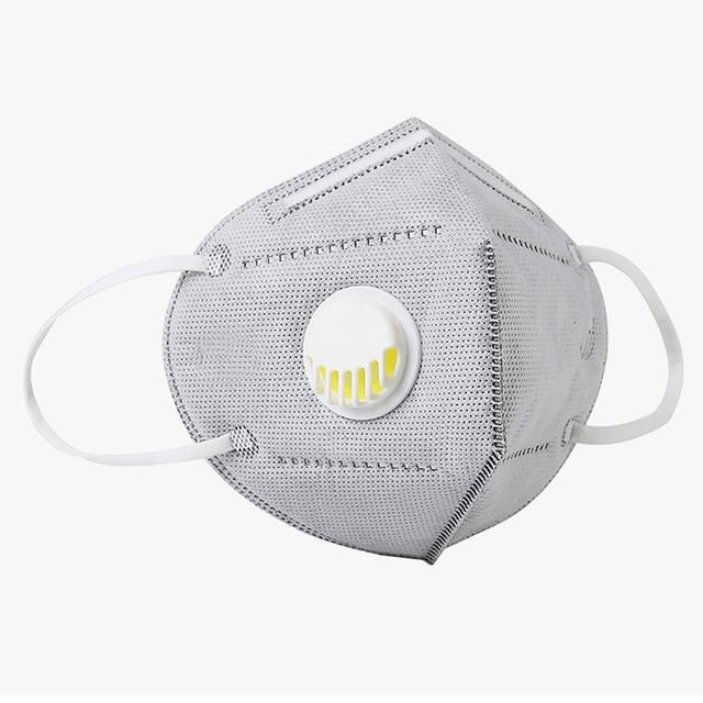 3 Colors KN95 Valve Mask 5 Layer Flu Anti Infection N95 Protective Masks ffp2 Respirator PM2.5 Safety Same As KF94 FFP3 2
