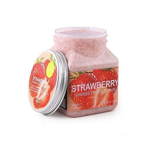 Скраб для тела Клубника Wokali Strawberry Sherbet Body Scrub 350 мл Электрический клинзер для лица    АлиЭкспресс