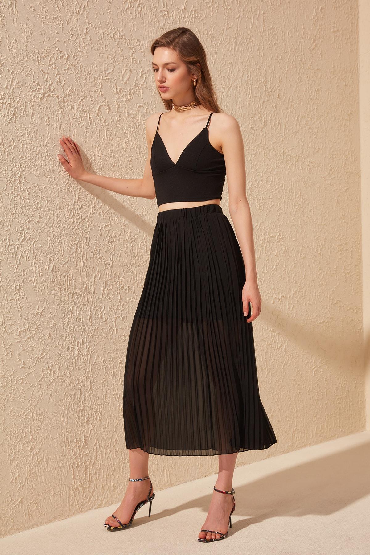 Trendyol Lined Skirt TWOSS20ET0217
