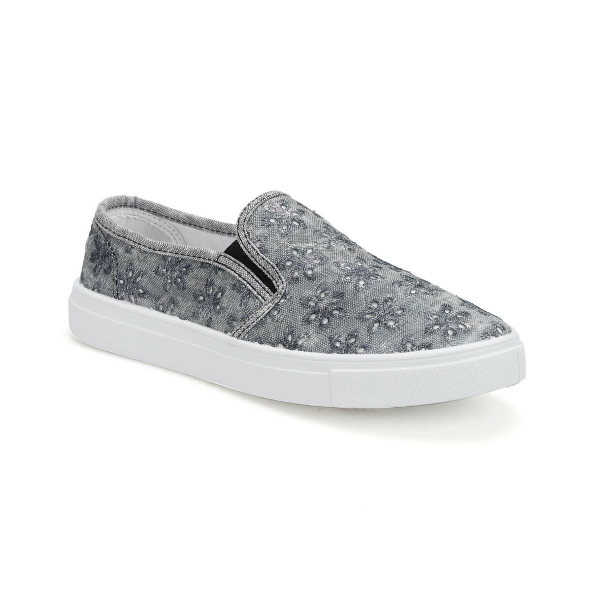 FLO CS19161 Gray Women Slip On Shoes Art Bella