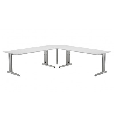 TABLE ANGLE 90 ° WHITE FOR OFFICE TABLE SERIALS WORK/METAL