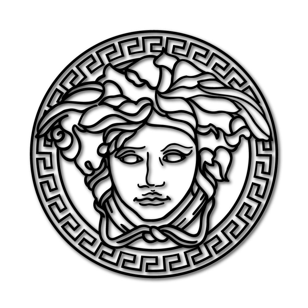 X1 logo vinyle VERSACE medusa (personnalisable)