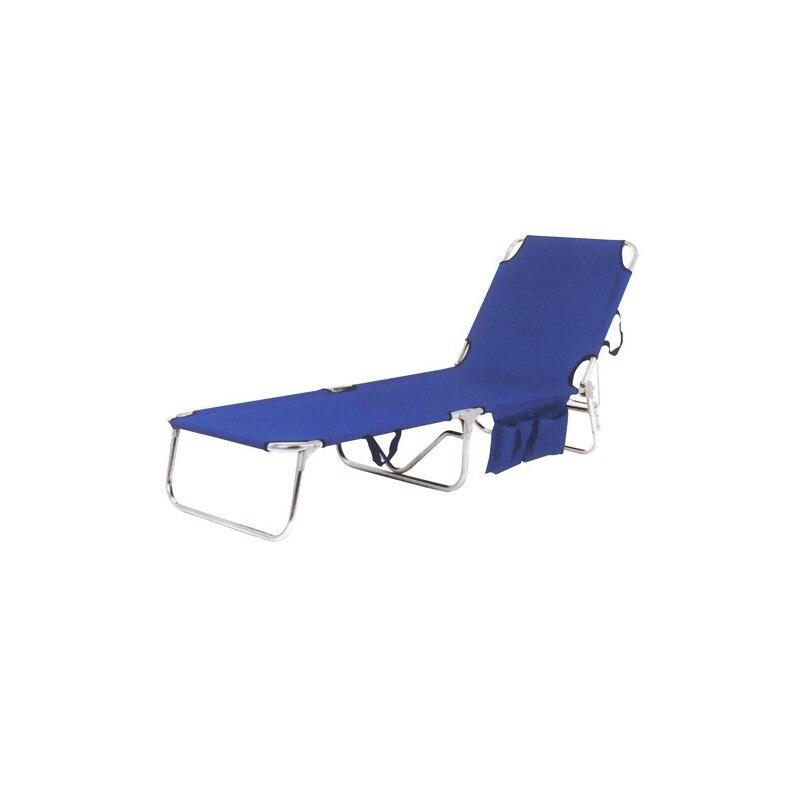 Пляжный шезлонг металлическая кровать Thassos синий title=