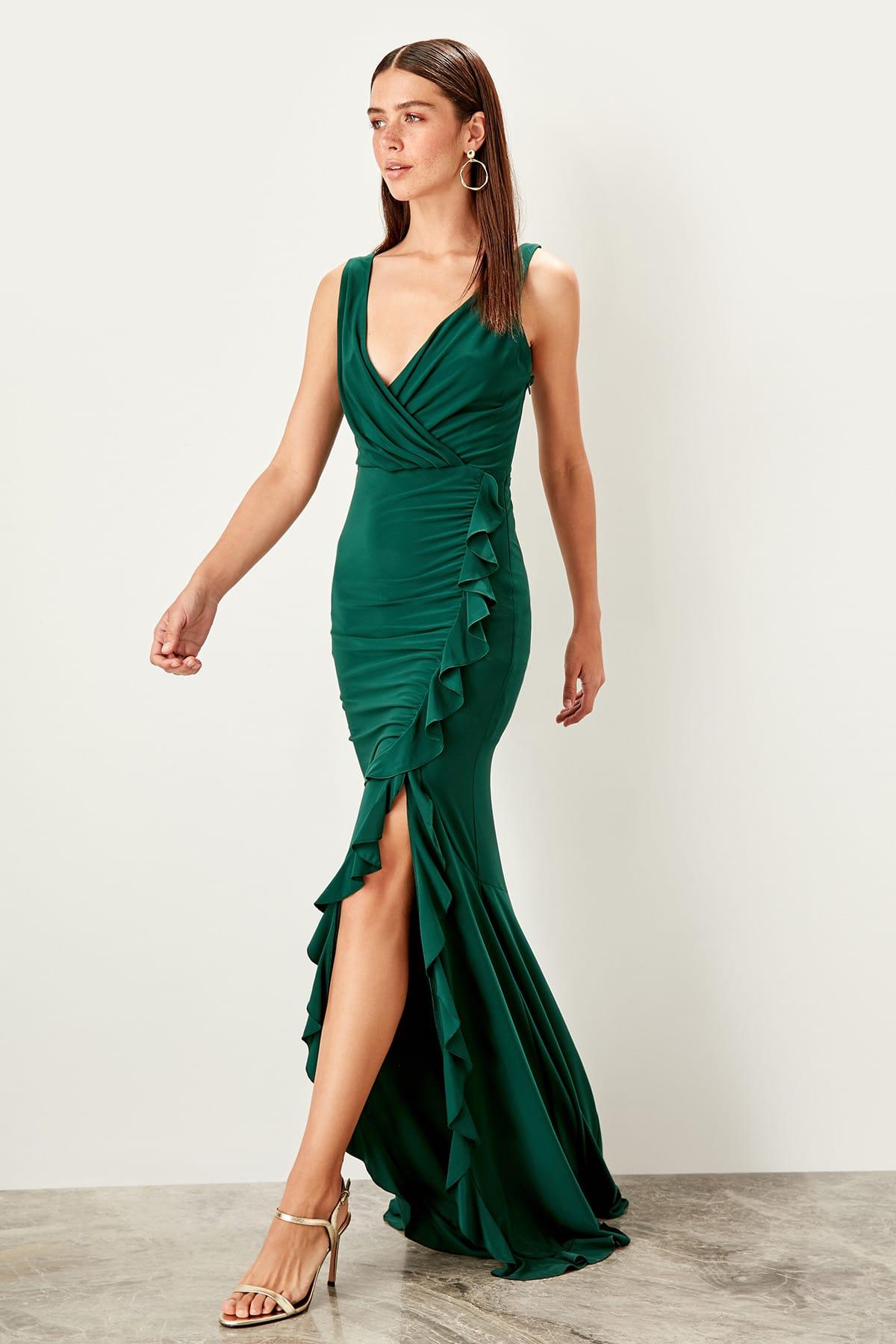 Trendyol Flywheel Detailed Evening Dress TPRSS19UT0026