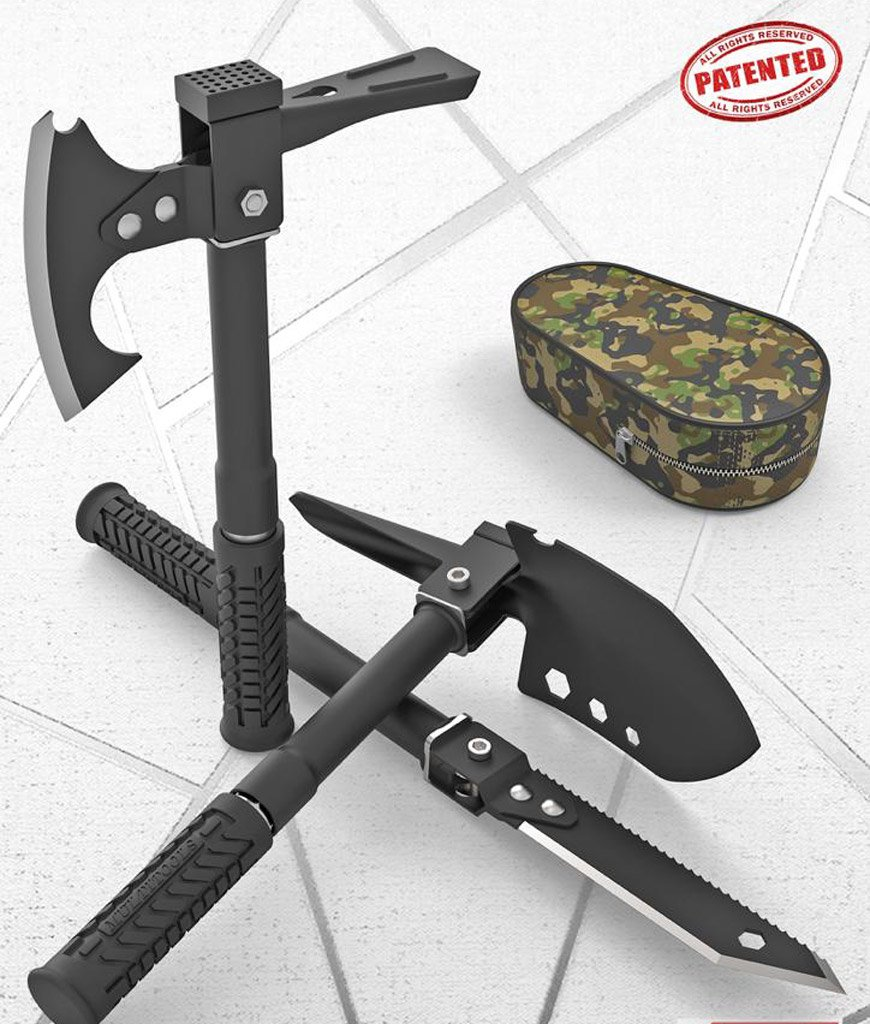 Multitools Folding Portable Stainless Steel Ax Knife Saw Shovel Outdoor Tool Hiking Survival Camping Shovel Tools steel shovel
