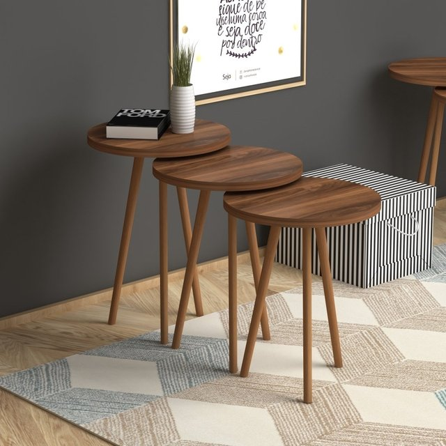 3 Round Nesting Colorful Side Tables 6
